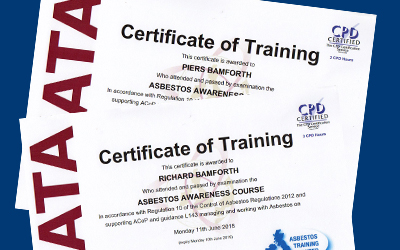 Training takes the risk out of asbestos